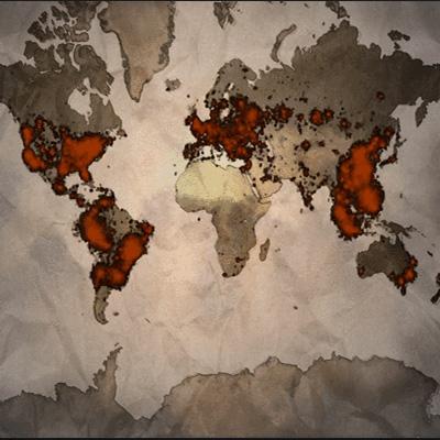 سهم قاره ها در ادوار The Internarional