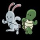 4 bunnies 1 turtle